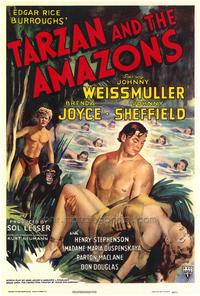 Tarzan and the Amazons - 43 x 62 Movie Poster - Bus Shelter Style A