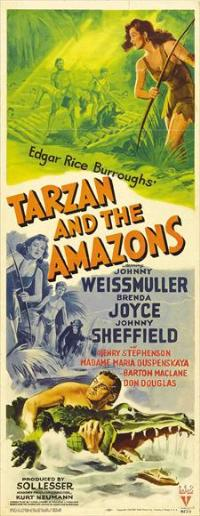 Tarzan and the Amazons - 14 x 36 Movie Poster - Insert Style A