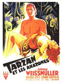 Tarzan and the Amazons - 11 x 17 Movie Poster - French Style A