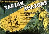 Tarzan and the Amazons - 11 x 17 Movie Poster - Style B