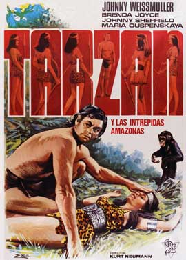 Tarzan and the Amazons - 11 x 17 Movie Poster - Spanish Style A