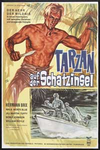 Tarzan and the Green Goddess - 27 x 40 Movie Poster - German Style A