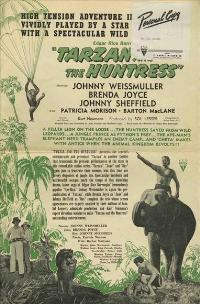 Tarzan and the Huntress - 27 x 40 Movie Poster - Style A
