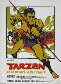 Tarzan and the Jungle Boy - 11 x 17 Movie Poster - French Style A