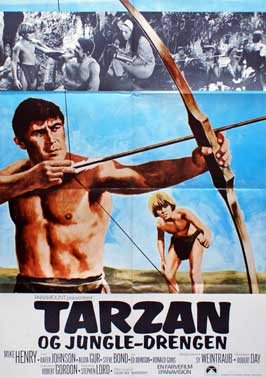 Tarzan and the Jungle Boy - 11 x 17 Movie Poster - Danish Style A