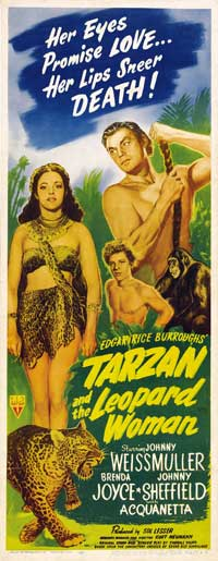 Tarzan and the Leopard Woman - 14 x 36 Movie Poster - Insert Style A