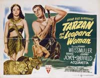 Tarzan and the Leopard Woman - 11 x 17 Movie Poster - UK Style A