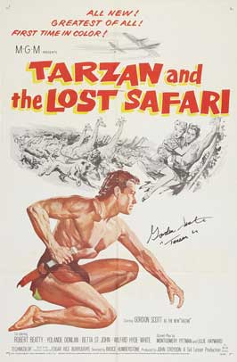 Tarzan and the Lost Safari - 27 x 40 Movie Poster - Style A