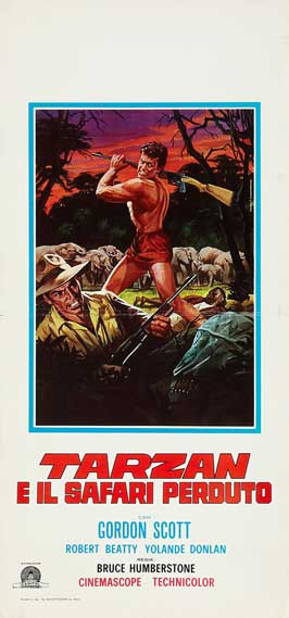 Tarzan and the Lost Safari - 11 x 17 Movie Poster - Italian Style A
