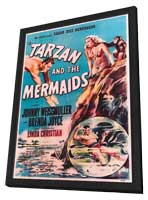 Tarzan and the Mermaids - 11 x 17 Movie Poster - Style A - in Deluxe Wood Frame