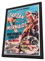 Tarzan and the Mermaids - 27 x 40 Movie Poster - Style A - in Deluxe Wood Frame