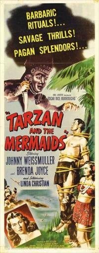 Tarzan and the Mermaids - 14 x 36 Movie Poster - Insert Style A