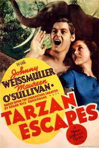 Tarzan Escapes - 11 x 17 Movie Poster - Style B