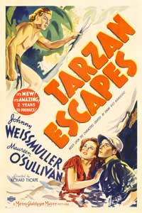 Tarzan Escapes - 27 x 40 Movie Poster - Style C