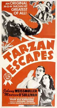 Tarzan Escapes - 11 x 17 Movie Poster - Style D