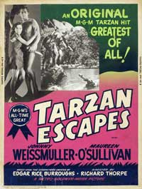 Tarzan Escapes - 11 x 17 Movie Poster - Style E