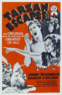 Tarzan Escapes - 11 x 17 Movie Poster - Style F