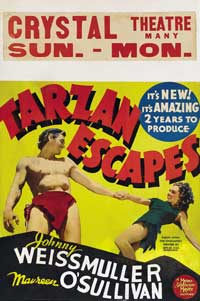 Tarzan Escapes - 11 x 17 Movie Poster - Style G