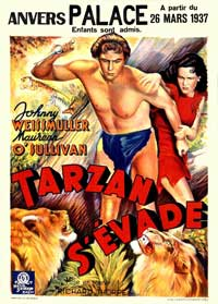 Tarzan Escapes - 11 x 17 Movie Poster - Belgian Style A