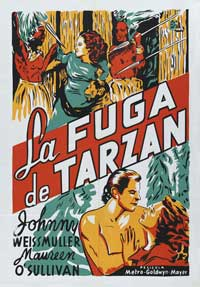Tarzan Escapes - 11 x 17 Movie Poster - French Style A