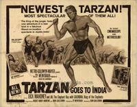 Tarzan Goes to India - 11 x 14 Movie Poster - Style F