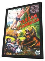 Tarzan in Istanbul - 11 x 17 Movie Poster - Turkish Style A - in Deluxe Wood Frame
