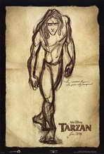 Tarzan - 27 x 40 Movie Poster - Style A