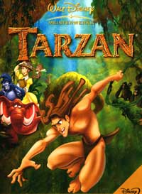 Tarzan - 27 x 40 Movie Poster - German Style A
