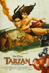 Tarzan - 27 x 40 Movie Poster - Style G