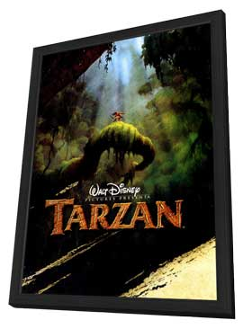 Tarzan - 27 x 40 Movie Poster - Style C - in Deluxe Wood Frame