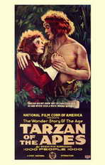 Tarzan of the Apes - 11 x 17 Movie Poster - Style B