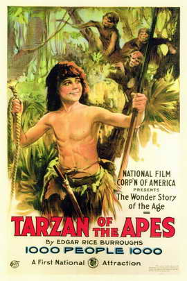 Tarzan of the Apes - 11 x 17 Movie Poster - Style A