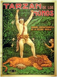 Tarzan of the Apes - 11 x 17 Movie Poster - Spanish Style B