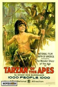 Tarzan of the Apes - 43 x 62 Movie Poster - Bus Shelter Style A