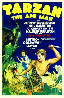 Tarzan The Ape Man - 11 x 17 Movie Poster - Style A