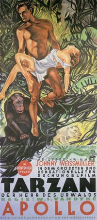 Tarzan The Ape Man - 11 x 17 Movie Poster - German Style A