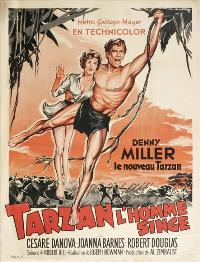 Tarzan The Ape Man - 27 x 40 Movie Poster - French Style A