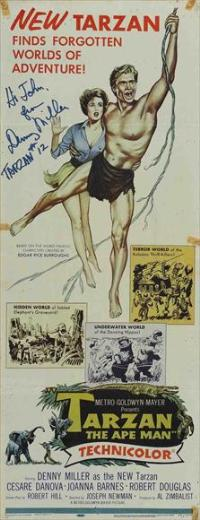Tarzan The Ape Man - 14 x 36 Movie Poster - Insert Style B