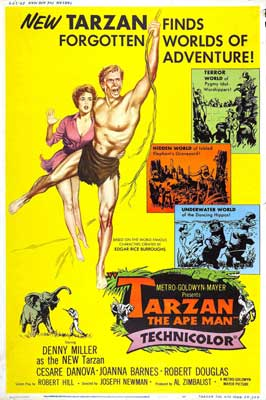 Tarzan The Ape Man - 11 x 17 Movie Poster - Style F