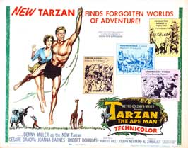 Tarzan The Ape Man - 22 x 28 Movie Poster - Half Sheet Style A