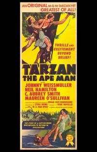Tarzan the Ape Man - 27 x 40 Movie Poster