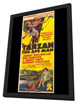 Tarzan the Ape Man - 11 x 17 Movie Poster - Style A - in Deluxe Wood Frame