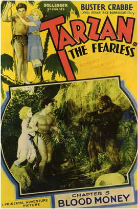 Tarzan the Fearless - 11 x 17 Movie Poster - Style E