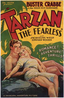 Tarzan the Fearless - 11 x 17 Movie Poster - Style F