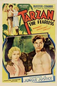 Tarzan the Fearless - 11 x 17 Movie Poster - Style J