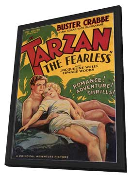 Tarzan the Fearless - 11 x 17 Movie Poster - Style F - in Deluxe Wood Frame