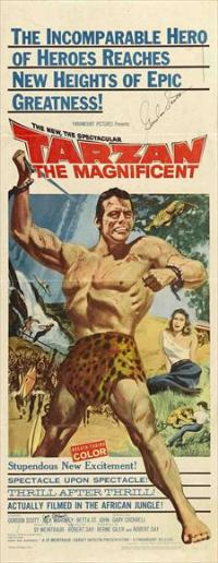 Tarzan the Magnificent - 14 x 36 Movie Poster - Insert Style A