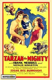 Tarzan the Mighty - 43 x 62 Movie Poster - Bus Shelter Style A