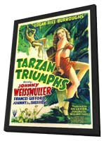 Tarzan Triumphs - 11 x 17 Movie Poster - Style A - in Deluxe Wood Frame
