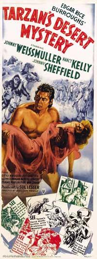Tarzan's Desert Mystery - 14 x 36 Movie Poster - Insert Style A